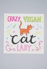 Crazy Vegan Cat Lady Card