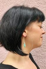 Dania Hoop with Rose Quartz Earring by Mishakaudi