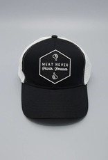 Meat Never, Plants Forever Black Eco-Snapback Hat