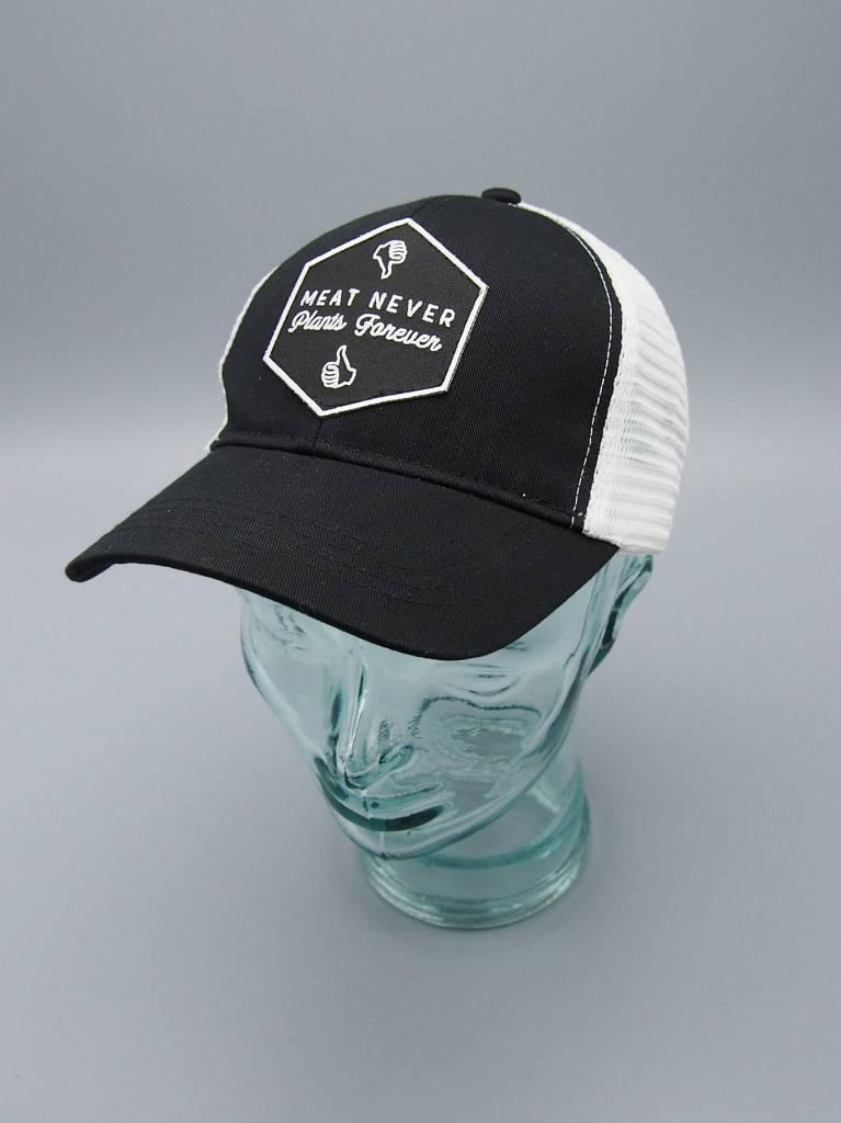 Meat Never, Plants Forever Black Eco-Snapback Hat