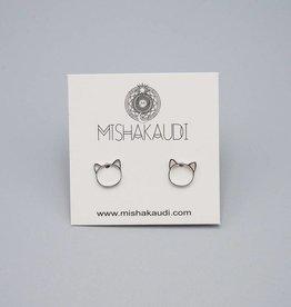 Cat Post Earring by Mishakaudi