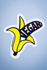Vegan Banana Die Cut Sticker