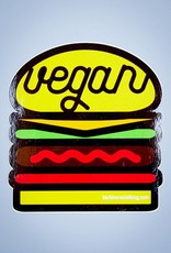 Vegan Burger Die Cut Sticker