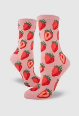 Sweet Strawberries Women's Crew Sock from Mod Socks