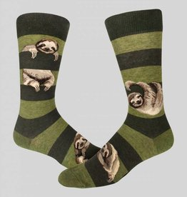 Sloth Stripe Men's Crew Sock from Mod Socks