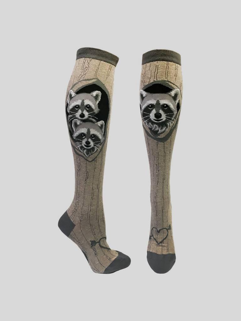 Raccoon Den Knee Sock from Mod Socks