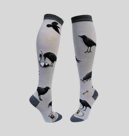 Curious Crow Knee Sock from Mod Socks