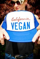 California Vegan Blue Trucker Hat