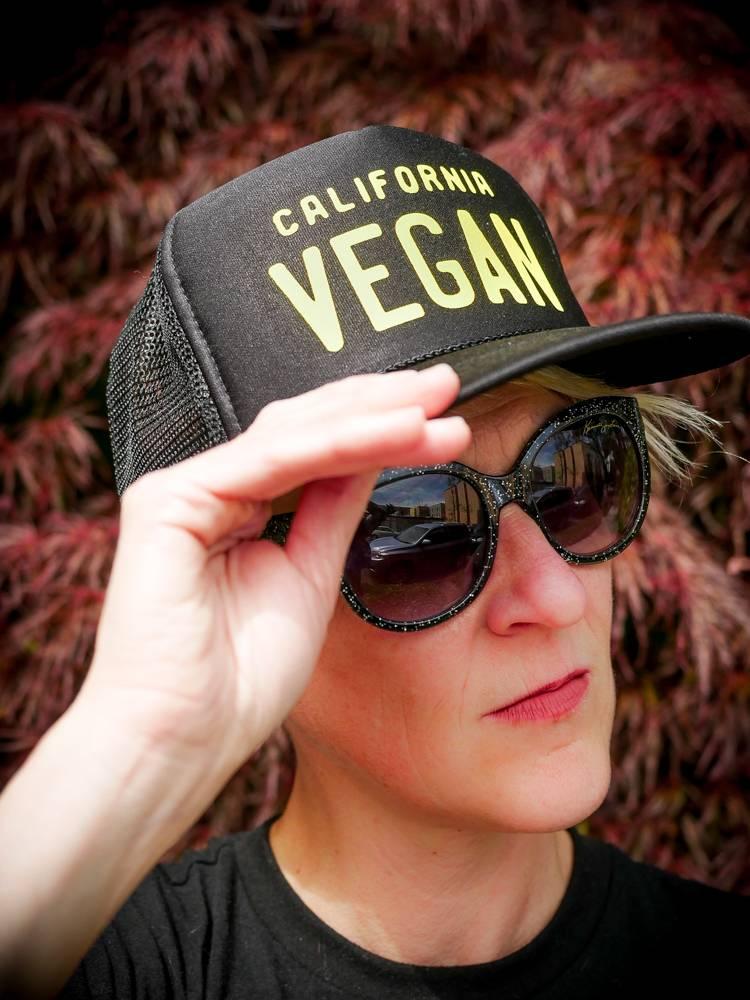 California Vegan Black Trucker Hat