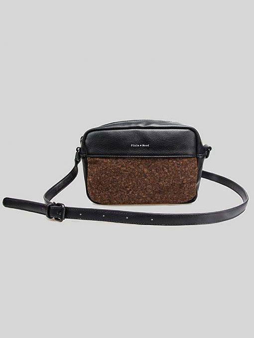 Monique Crossbody Bag by Pixie Mood Black & Cork