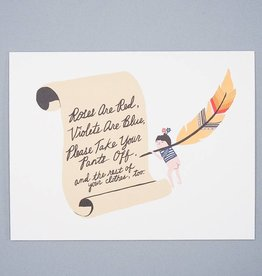 Pants Off Poem Card