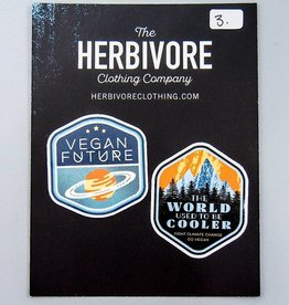 Mini Die Cut Sticker Set - Vegan Future & World Used To Be Cooler