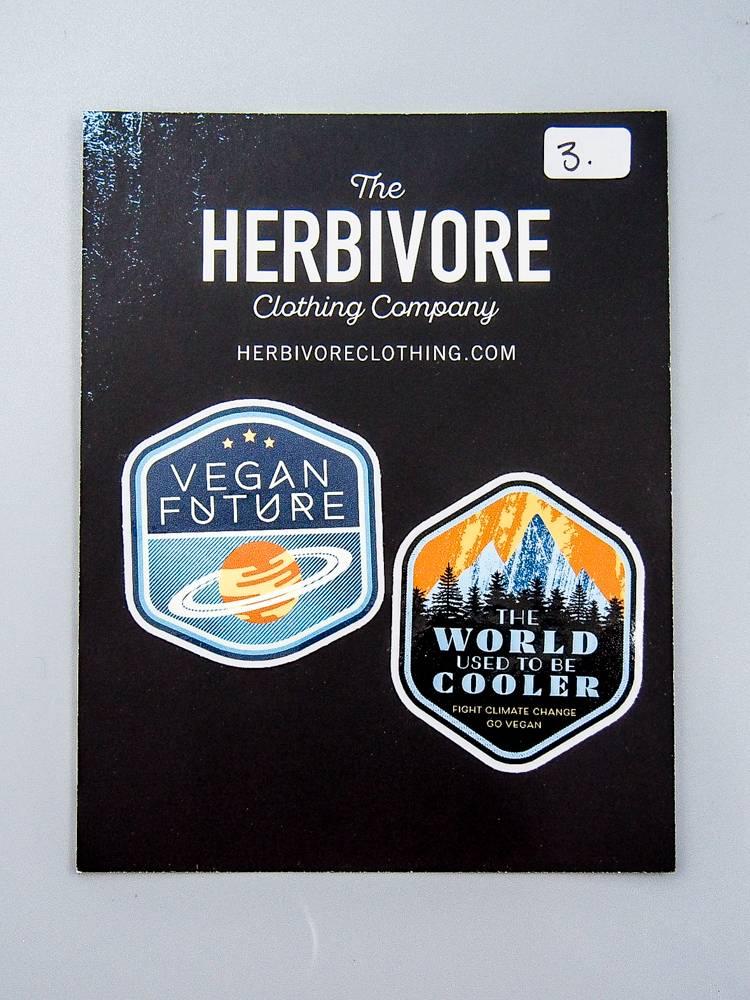 Mini Die Cut Sticker Set - Vegan Future & World Used To Be Cooler