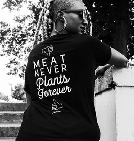 Meat Never, Plants Forever Women's Pocket Tee