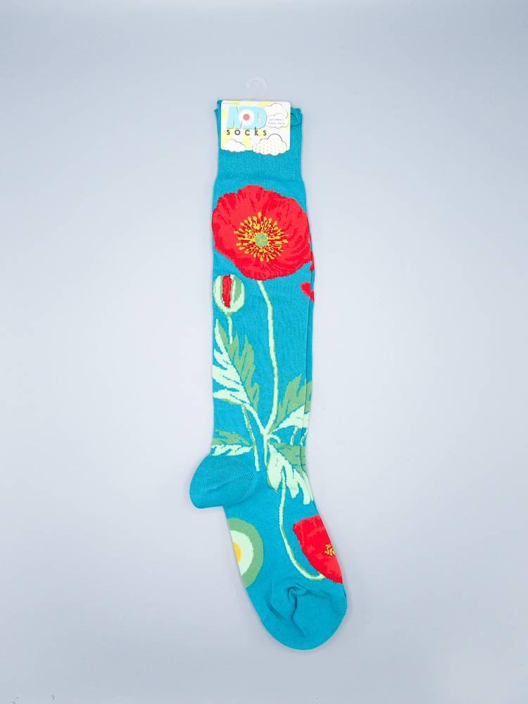 Poppies Knee Sock from Mod Socks