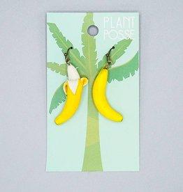 Plant Posse Banana Peeled Earring