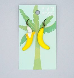 Plant Posse Banana Peeled Earrings