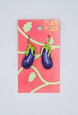Plant Posse Eggplant Earrings