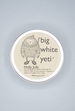 Big White Yeti Candle Holly Jolly