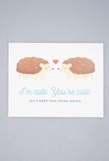 Cute Hedgehogs Card