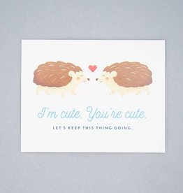 Cute Hedgehogs Card