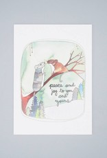 Peace and Joy Mice Holiday Card