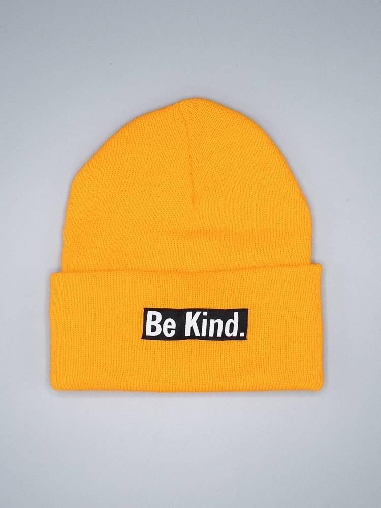 """Herbivore """"Be Kind"""" Gold Cuffed Beanie"""