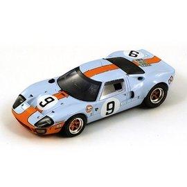 Spark Models Ford GT40 #9 Le Mans 1968 Winner Rodriguez/Bianchi Spark 1:43 Scale Diecast Model Car