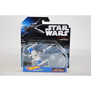 Hot Wheels Mattel Hot Wheels Star Wars Resistance X-Wing Fighter With Flight Stand Die Cast Model Replica
