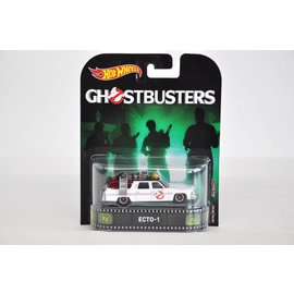 Hot Wheels Hot Wheels Retro Entertainment Ecto-1 Ghostbusters 1:64 Scale Diecast Model Car