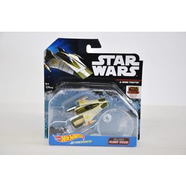 Hot Wheels Mattel Hot Wheels Star Wars A-Wing Fighter With Flight Stand Die Cast Model Replica