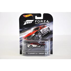 Hot Wheels Hot Wheels 2012 Camaro ZL1 Concept Retro Entertainment Forza Motorsport Mattel 1:64 Scale Diecast Model Car