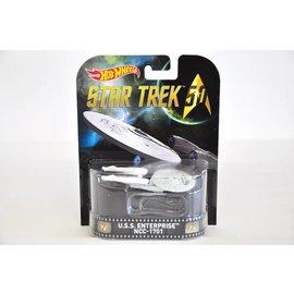Hot Wheels Hot Wheels USS Enterprise NCC-1701 Star Trek Retro Entertainment 1:64 Scale Diecast Model