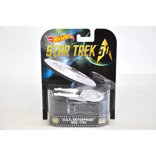 Hot Wheels Hot Wheels USS Enterprise NCC-1701 Star Trek Retro Entertainment 1:64 Scale Diecast Model