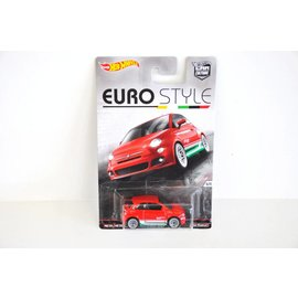 Hot Wheels Hot Wheels Car Culture Euro Style Fiat 500 Red Mattel 1:64 Scale Diecast Model Car