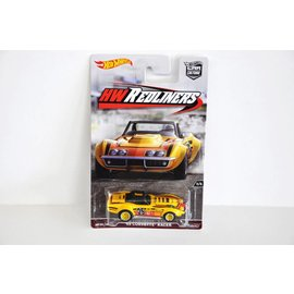 Hot Wheels Hot Wheels Car Culture Redliners 1969 Corvette Racer Yellow #25 1:64 Scale Diecast Model Car