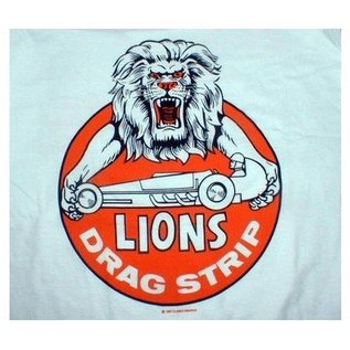 Classic Graphix Lions Drag Strip T-Shirt - White