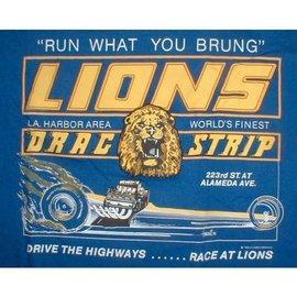 Classic Graphix Lions Run What You Brung T-Shirt - Blue