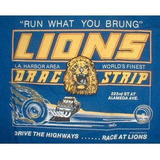 Classic Graphix Lions Run What You Brung T-Shirt - Blue