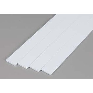 Evergreen Scale Models .080 Dimensional Plastic Strips - White - Evergreen