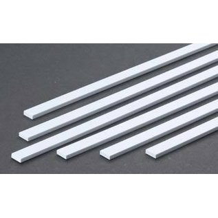 Evergreen Scale Models .125 Dimensional Plastic Strips - White - Evergreen