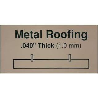 Evergreen Scale Models Standing Seam Roof .040 Thick - Styrene Plastic - Evergreen