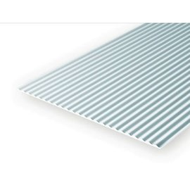Evergreen Scale Models Corrugated Metal Siding .040 Thick - Styrene Plastic - Evergreen
