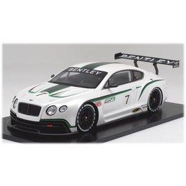 Bentley Continental GT3 #7 White Bburago 1:24 Diecast
