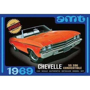 AMT 1969 Chevy Chevelle SS 396 Convertible AMT 1:25 Plastic KIt