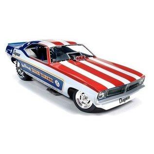 Auto World 1972 Plymouth Cuda Funny Car Damn Yankee AW 1:18