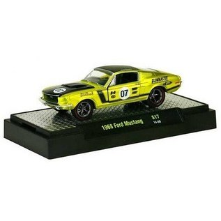 M2 Machines 1968 Ford Mustang Yellow Auto Mods M2 1:64 Diecast