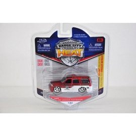 Jada Toys 2003 Lincoln Navigator - Red - Badge City Heat - Jada - 1:64 Diecast Car