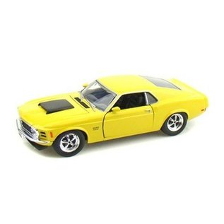 Motor Max 1970 Ford Mustang Boss 429 Yellow Motor Max 1:24