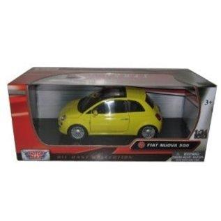 Motor Max Fiat Nuova 500 Yellow Motor Max 1:24 Diecast